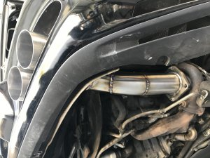 AF Porsche 997.1 Turbo Quad Tip Stainless Steel Catless Race Exhaust